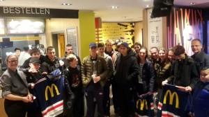 U17 bij McDonalds